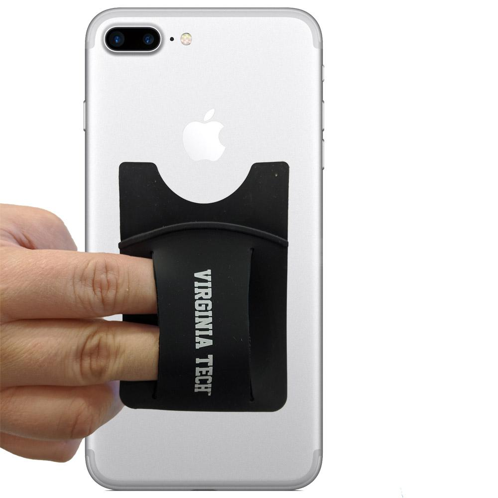 Virginia Tech Silicone Media Wallet W/Finger Slot