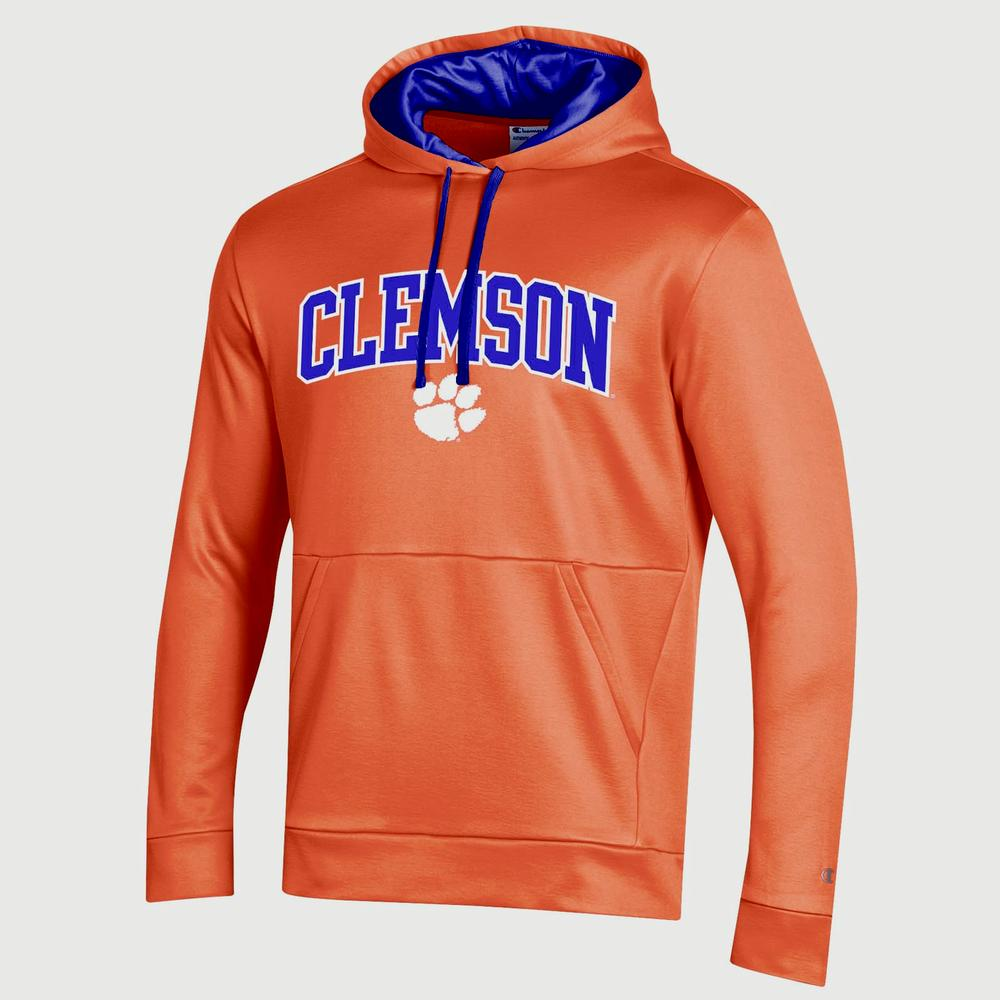 Clemson Champion Men's Field Day Poly Fleece Pullover
