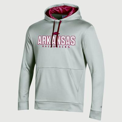 Arkansas Champion Men's Field Day Heather Poly Fleece Pullover