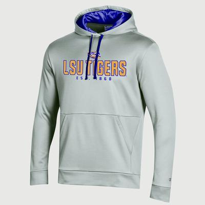 LSU Champion Men's Field Day Heather Poly Fleece Pullover