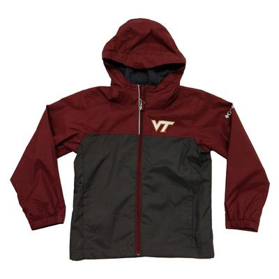 Virginia Tech Columbia Youth Fleece Lined Rain Jacket