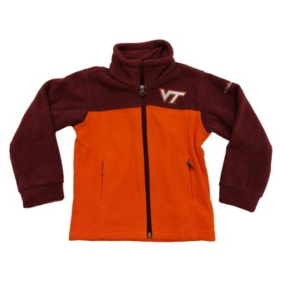 Virginia Tech Columbia Youth Full Zip Fleece Jacket