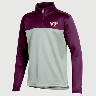 Virginia Tech Youth Champion Poly 1/4 Zip Fleece