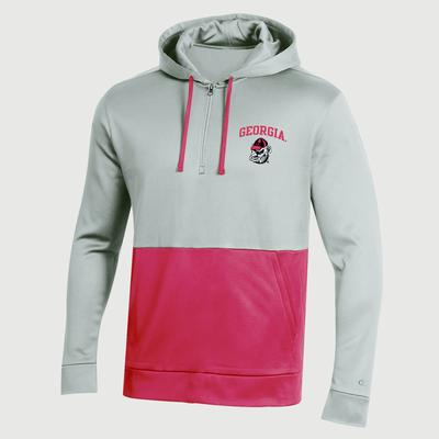 Georgia Champion Men's Field Day Poly Fleece 1/4 Zip Hoody