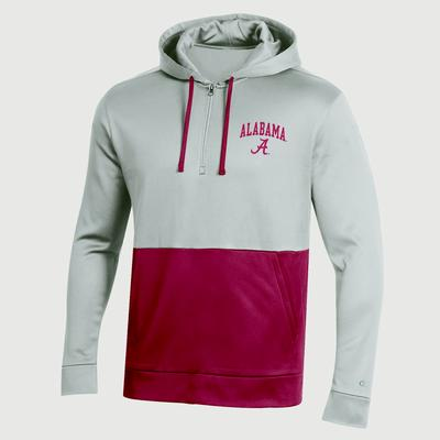 Alabama Champion Men's Field Day Poly Fleece 1/4 Zip Hoody