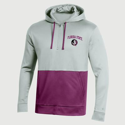FSU Champion Men's Field Day Poly Fleece 1/4 Zip Hoody