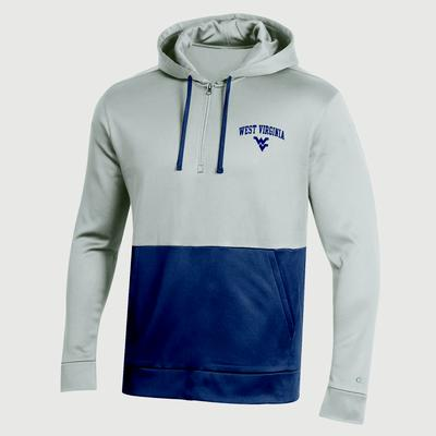 West Virginia Champion Men's Field Day Poly Fleece 1/4 Zip Hoody