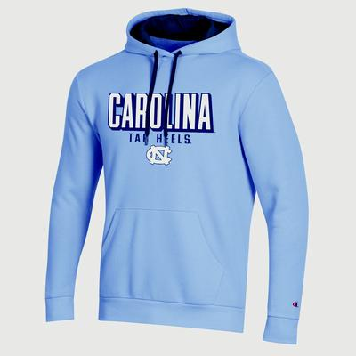 North Carolina Champion Men's Keystone Screen Fleece Pullover Hoody