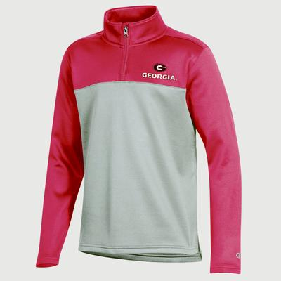 Georgia Champion Youth Promo Poly Fleece 1/4 Zip