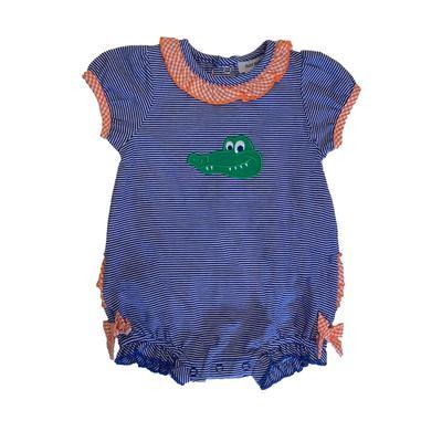 Florida Ishtex Infant Alligator Girls Romper