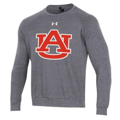 Auburn Under Armour Men's All Day Fleece Crew CARBON