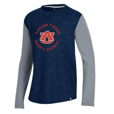 Auburn Under Armour Youth Waffle Crew