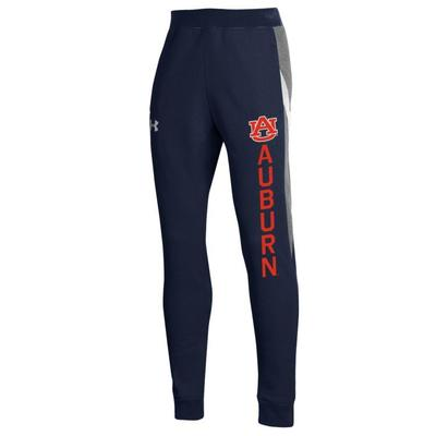 Auburn Under Armour Youth Pique Blocked Jogger