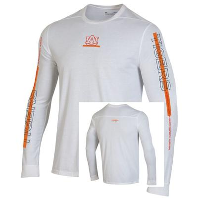 Auburn Under Armour Men's Hype Asymmetrical Sleeve Tee