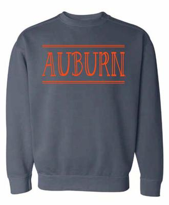 Auburn Summit Women's Hand Drawn Double Bar CC Crew Sweatshirt