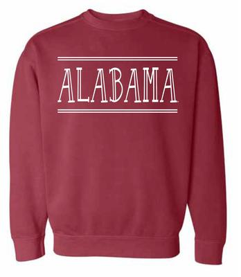Alabama Summit Women's Hand Drawn Double Bar CC Crew Sweatshirt