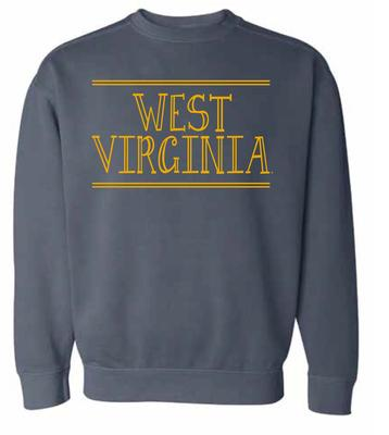 West Virginia Summit Women's Hand Drawn Double Bar CC Crew Sweatshirt