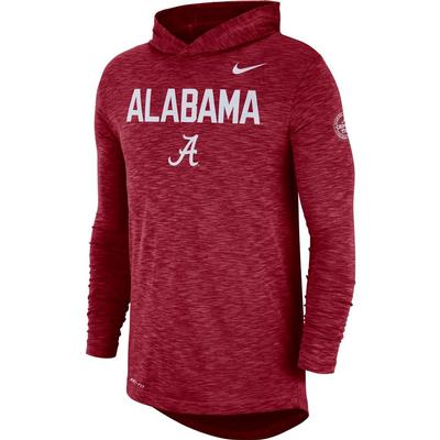 Alabama Nike Slub Rivalry Long Sleeve Hoody Tee