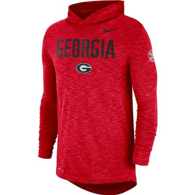 Georgia Nike Slub Rivalry Long Sleeve Hoody Tee