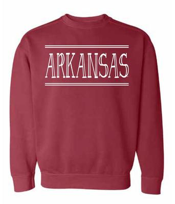 Arkansas Summit Women's Hand Drawn Double Bar CC Crew Sweatshirt