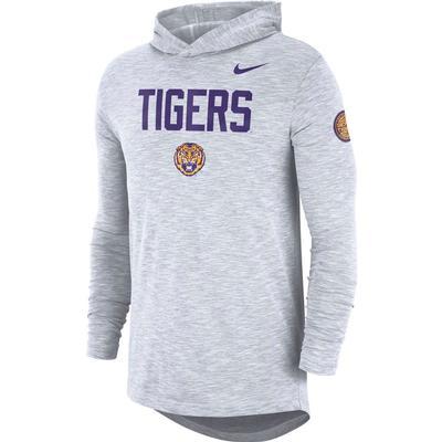 LSU Nike Slub Rivalry Long Sleeve Hoody Tee