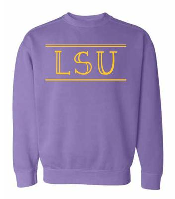 LSU Summit Women's Hand Drawn Double Bar CC Crew Sweatshirt