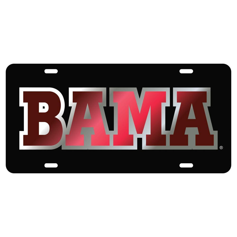 Alabama License Plate Black/Crimson Bama