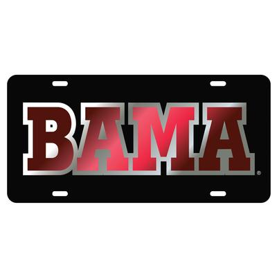 Alabama License Plate Black/Crimson BAMA