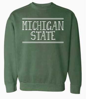 Michigan State Summit Women's Hand Drawn Double Bar CC Crew Sweatshirt