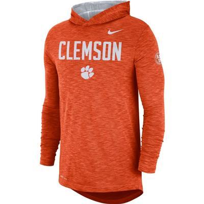 Clemson Nike Slub Rivalry Long Sleeve Hoody Tee