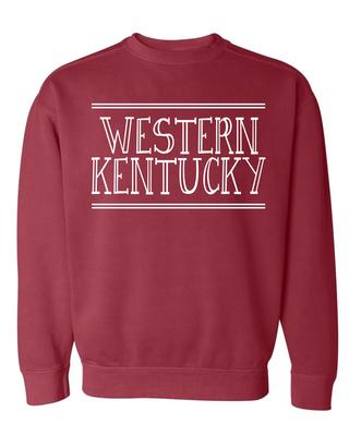 Western Kentucky Summit Women's Hand Drawn Double Bar CC Crew Sweatshirt