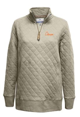 Clemson Summit Women's Quilted 1/4 Zip