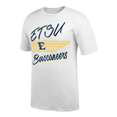 ETSU Women's Chevron Pattern State Tee Shirt