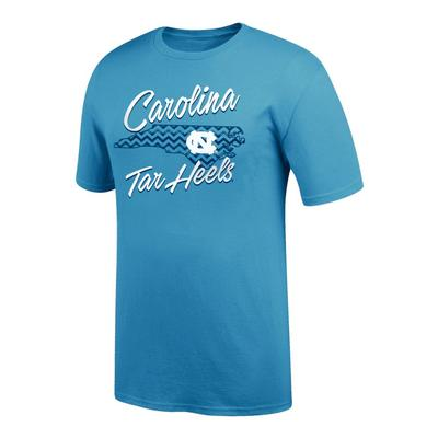 North Carolina Women's Chevron Pattern State Tee Shirt