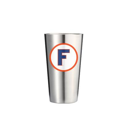 Florida Gametime Sidekicks 16oz Throwback Block F Stainless Pint Tumbler