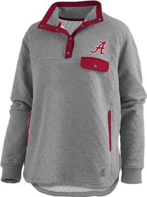 Alabama Pressbox Women's Magnum Quilted 1/4 Snap