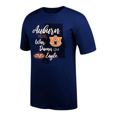 Auburn Women's Script State Tee Shirt