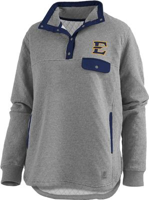ETSU Pressbox Women's Magnum Quilted 1/4 Snap