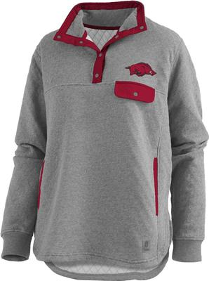 Arkansas Pressbox Women's Magnum Quilted 1/4 Snap