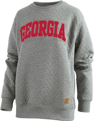 Georgia Pressbox Women's Moose Quilted Sweatshirt