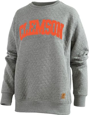 Clemson Pressbox Women's Moose Quilted Sweatshirt