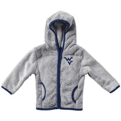 West Virginia Colosseum Infant Girl's Faux Fur Jacket