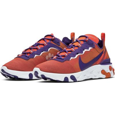Clemson Nike React Element 55 (Men's Sizing)