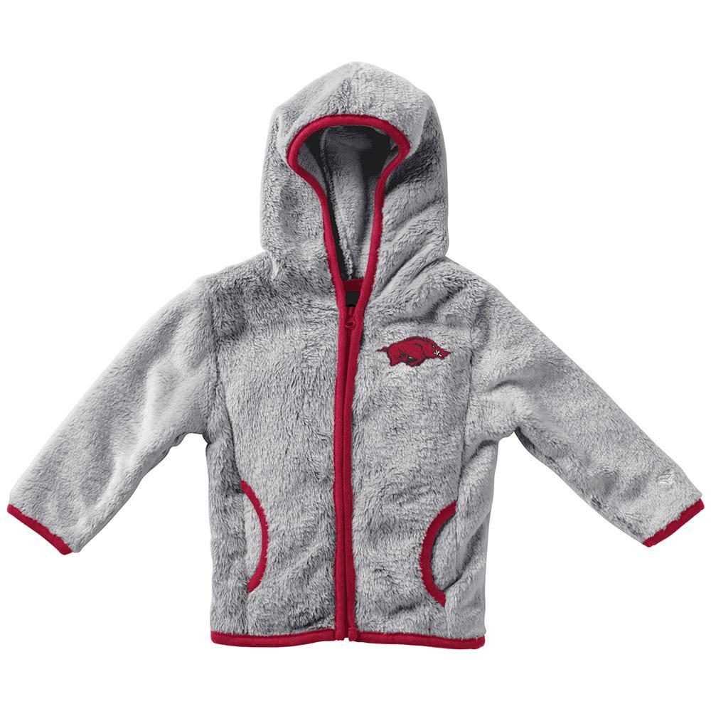 Arkansas Colosseum Infant Girl's Faux Fur Jacket