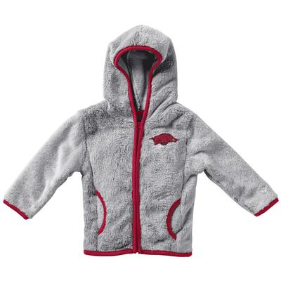 Arkansas Colosseum Infant Girl's Faux Fur Jacket