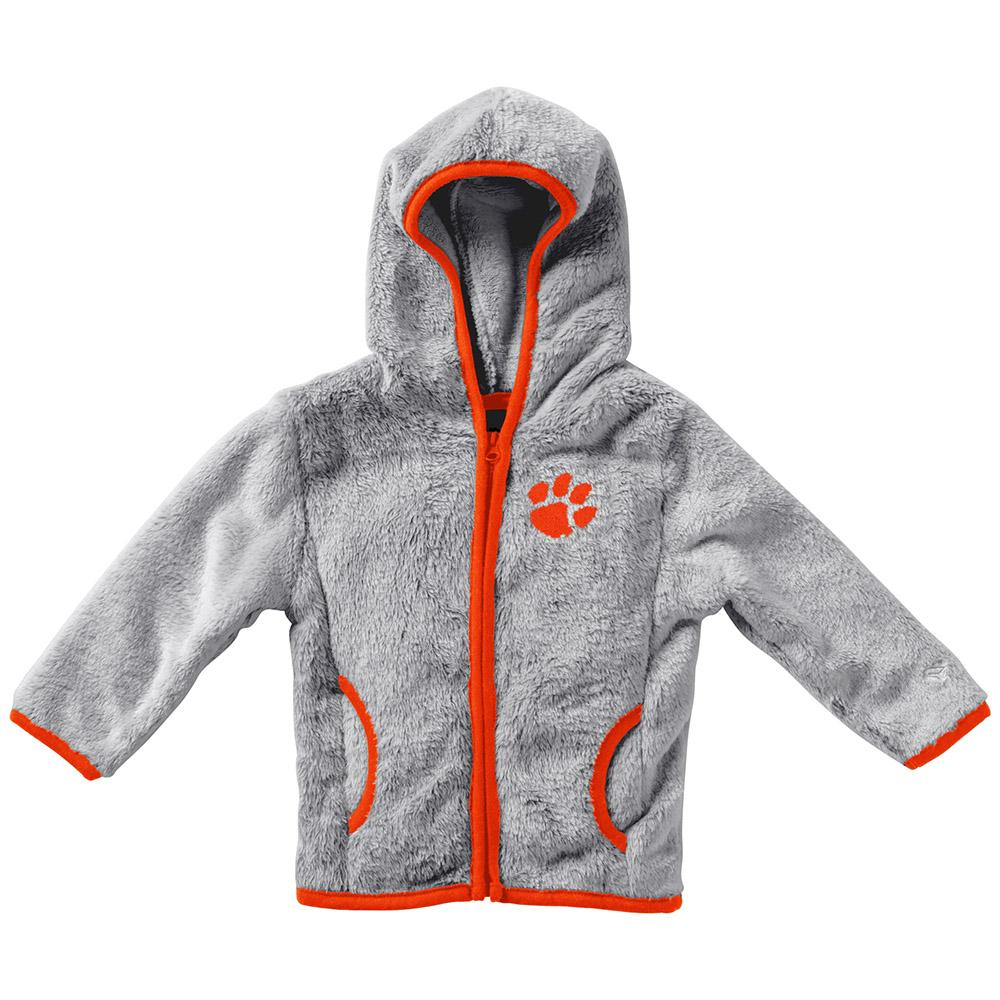 Clemson Colosseum Infant Girl's Faux Fur Jacket