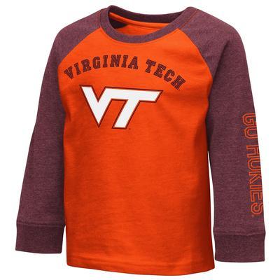 Virginia Tech Colosseum Toddler Boys Raglan Tee