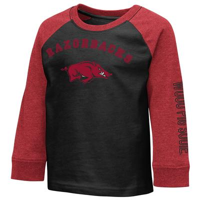 Arkansas Colosseum Toddler Boys Raglan Tee