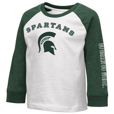 Michigan State Colosseum Toddler Boys Raglan Tee
