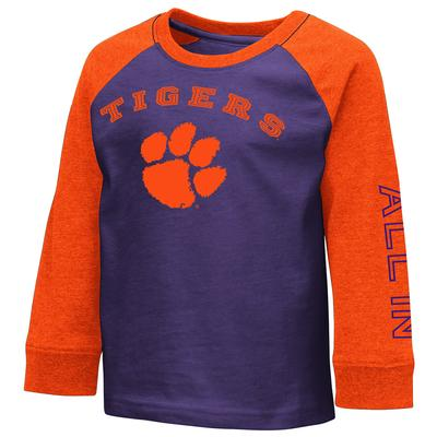 Clemson Colosseum Toddler Boys Raglan Tee